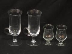 Lot of 4 Glasses 2 Bailey's Irish Cream Tulip Shot Glasses 2 Irish Coffee