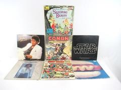 Lot of 7 Album Covers Only Michael Jackson Star Wars Other Compilations