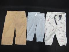 Lot of 3 Carters First Impressions Gymboree Pants Sweats Boys Infant Size 3-6 M