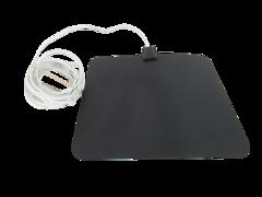 Amazon Basics Digital Indoor Flat TV Antenna White Cable Connection