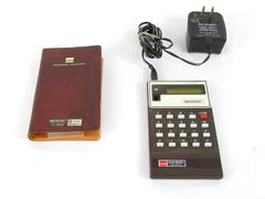 Sharp Elsi Mate EL-8024 Calculator Basic Pocket Mini in Case with Power Cord