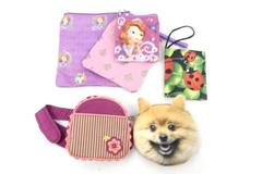 Lot of 6 Kids Coin Purses Wallet Bags Dress Up Pink Lady Bugs Princess Sofia