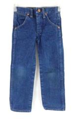 Wrangler Dark Wash Pro Rodeo Slim Fit Jeans Boy's Size 5 Slim 13MWZJP Pockets