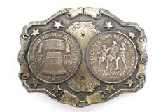 200 Years of Freedom 1976 Lewis Chicago Belt Buckles Liberty Bell & Spirit of 76