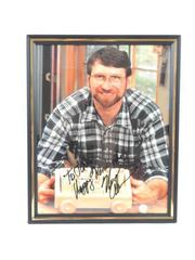 """Framed And Autographed Norm Abram Photograph 8"""" x 10"""""""