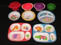 Lot of 9 Children's Dishes Plates Bowls Toddler Barney Ikea NUK Sea Farm Animals