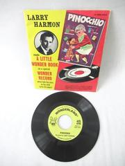 "Vintage 1954 Pinocchio A Little Wonder Book Record Larry Harmon 45 RPM 7"" EP"
