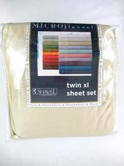 Shavel Sheet Set Chino Tan Fitted And Flat Pillow Case MicroFlannel Size Twin XL