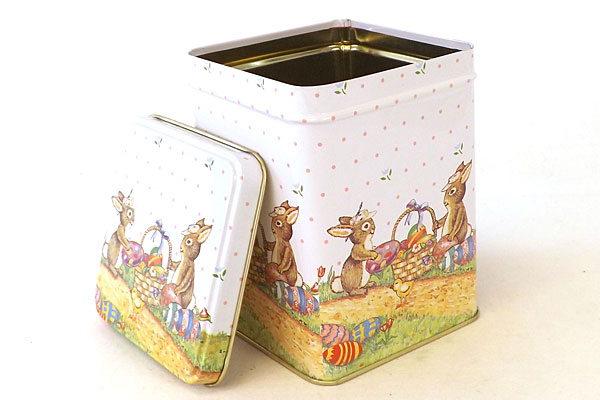 6 Applause Set 2 Bunnies & Easter Eggs Nesting Tins Decorative Gift Containers