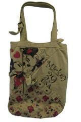 Disney US Allegiance Mickey & Minnie 39 USA Tote Bag Khaki 2 Adjustable Straps