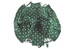 Longaberger Traditional Heritage Green Basket Liner Cotton Made In USA Ties