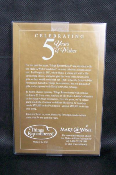 """5 Years Of Wishes Snowflake Ornament """"May Angels Surround You Always"""" Pewter"""