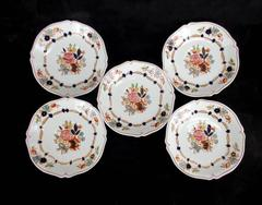 Lot of 5 Woods Ware England FLORA Pattern Soup Platter Floral Wood & Son