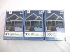 Lot of 3 Boxes Of 300 Clear Icicle Christmas Lights Indoor/Outdoor 22 Ft Long