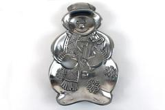 Snowman Candy Dish Display Christmas Holiday Decor Snowman Winter Wonderland
