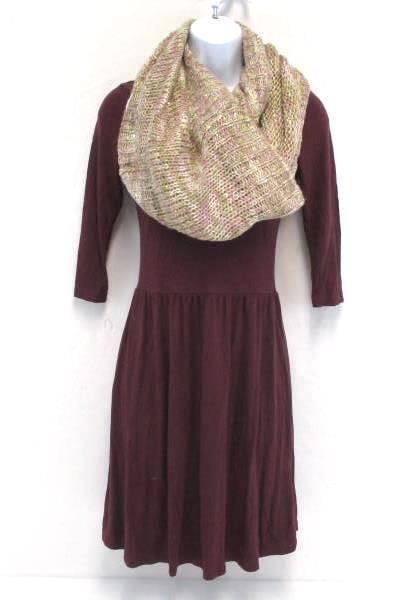 Women's Cotton On Scoop Neck Mini Dress XS Plus Mixit Sequined Infinity Scarf