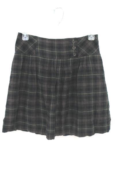 2 Piece Women's Outfit Cabi Pleated Plaid Skirt Victoria Secret Knit Crop Top M