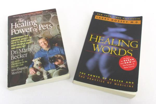 2 Paperback Books The Healing Power of Pets Autographed & Healing Words