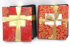 2 Sets of 2 Photo Album Gift Sets Elsa Black Gold Red Tones NEW