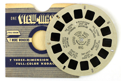 Antique 1940s View Master Reel #42 Grand Teton Nat'l Park Hand Lettered Buff