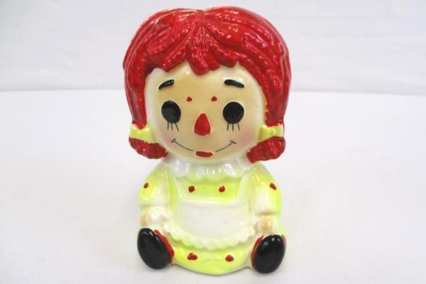 Vintage Rubens Originals Raggedy Ann Ceramic Planter #4149X From Japan