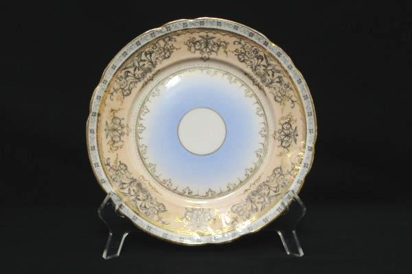 "Vintage C.T. Carl Tielsch Germany German 8"" Plate Gold Gilt Multicolor Cherubs"