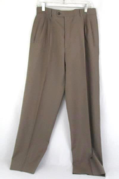 Paolo Vista Milano 100% Virgin Wool Dress Pants Slacks Men's Sz 34 Pleated Front