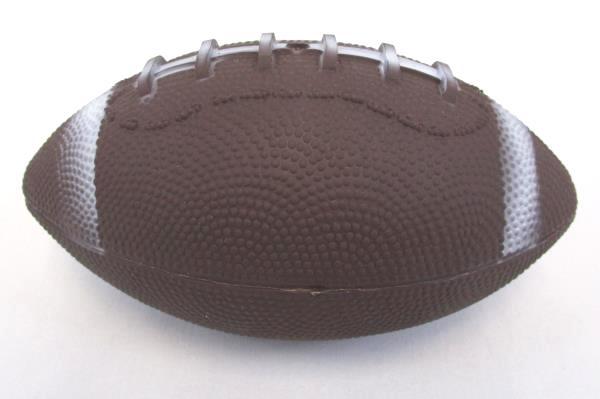 Lot of 2 Football Clear Pint Tumbler Glass & Plastic Football Display Decor