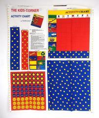 FABRIC TRADITIONS 1997 Kids Corner Activity Chore Chart Fabric Panel DIY