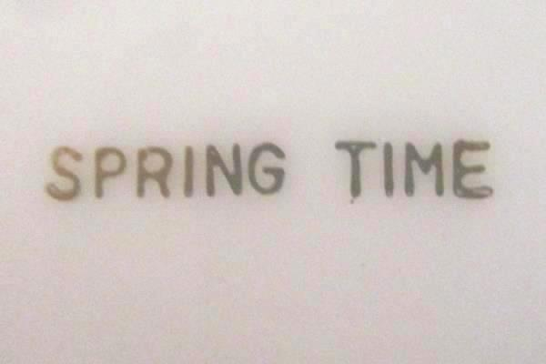 "8"" Gravy Boat w/ 10"" Plate Spring Time China White Platinum Gilt Primrose Vine"