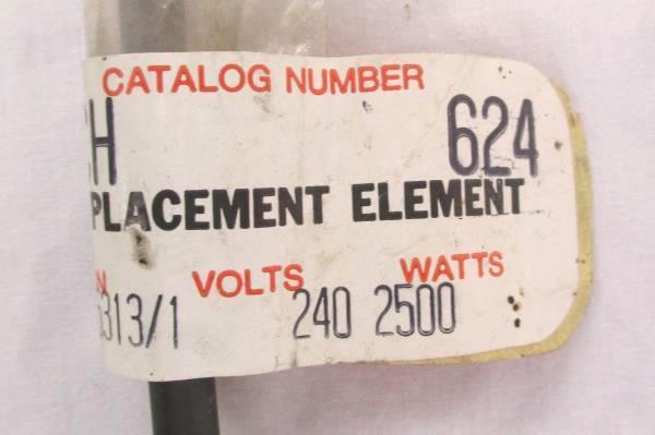 New Old Stock Chromalox Electric Range Element 240 Volts 2500 Watts w/ Screws