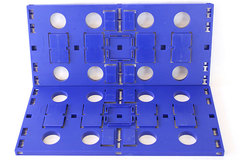 Lot Of 2 Large Blue Darda Baseplates