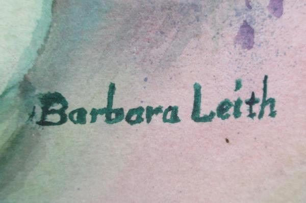 Original Barbara Leith Watercolor Framed Art Peonies in a Vase