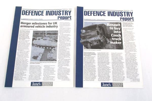 Jane's Defence Weekly Magazine Back Issues Supplements 1998/1999