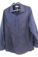 Van Heusen Men's Blue Button Up Long Sleeve Shirt Size 16.5