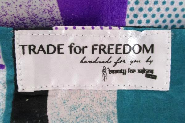 Trade for Freedom Infinity Scarf Satin Purple/Green Red/Black Hand Made