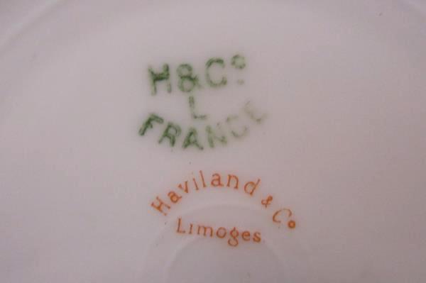 Lot of 3 Saucers by Haviland & Co Antique Schleiger France Limoges Gold Daubs
