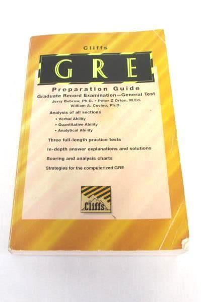 Cliffs GRE Preparation Guide Book Graduate Record Examination General Test 5th