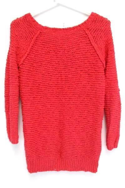 Aeropostale Open Knit Pullover Long Sweater Pink Size Small Petite