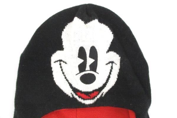 Disney MICKEY MOUSE Laplander Winter Beanie Pom Pom Hat Fleece Lined Knit OS