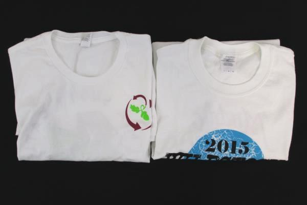 Lot of 2 Linfield Wildcats Event T Shirts Oregon Graphic White Men Women Large