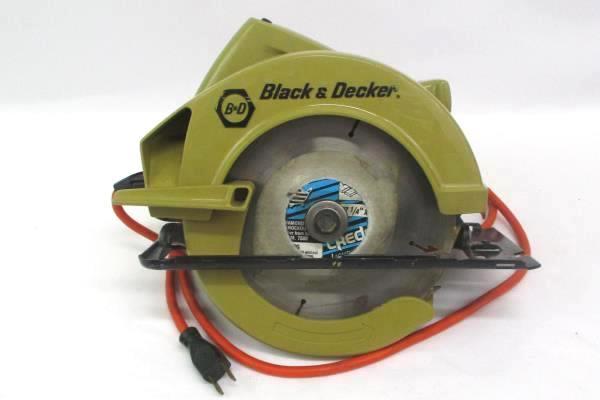 Craftsman Metal Case Black & Decker Circular Saw 7308 Grinding Stone 7 Blades