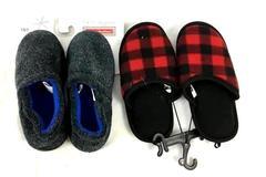 Holiday Tradition Slippers Blue Dark Gray Children's Boy's Size 13/1 Plush