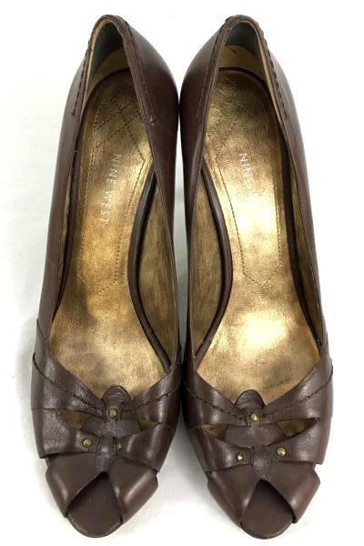 Nine West Women's Purple Peep Toe Pumps Heels Size 9.5
