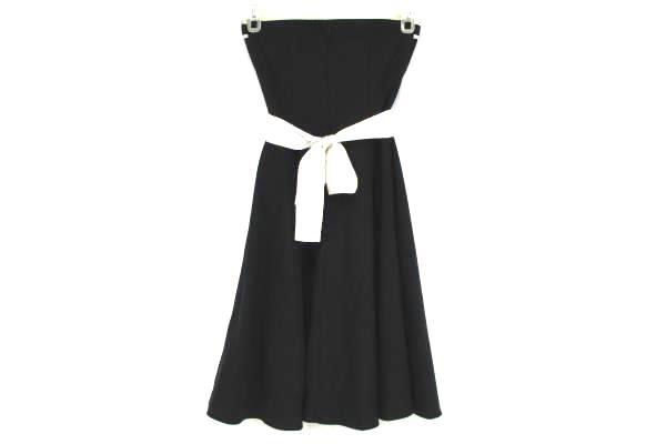 Ruby Rox Junior's Size 5 Black Strapless Dress White Satin Trim/Sash Tulle Skirt