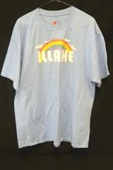 Hawaii Souvenir T-Shirt Graphic Rainbow Light Blue Illahe Adult Size XL