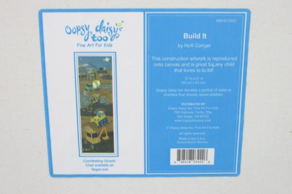 "Oopsy Daisy Too Fine Art For Kids ""Build It"" Canvas Wall Art Boys"