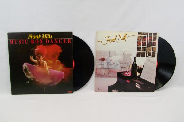 Lot Of 2 Frank Mills Vinyl Records 1974&79 Sunday Morning Suite Music Box Dancer