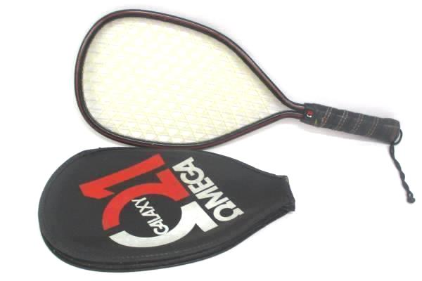 Vintage Omega 1 Galaxy Racquetball Racket & Zip Cover Red Black