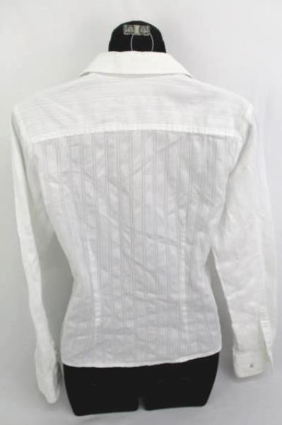 Lot Of 2 Women's Tops ~Black Basic H&M Cardigan The Limited White Button Up Sz S